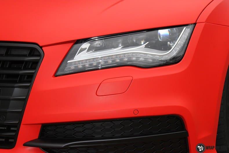 Audi A7 matte hotrod red, Carwrapping door Wrapmyride.nu Foto-nr:10289, ©2017