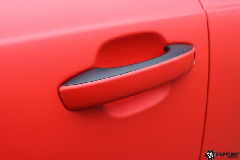 Audi A7 matte hotrod red, Carwrapping door Wrapmyride.nu Foto-nr:10286, ©2017