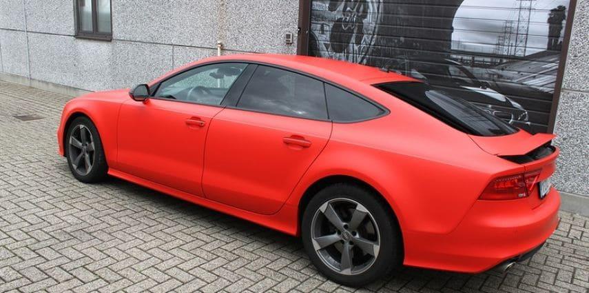 Audi A7 matte hotrod red