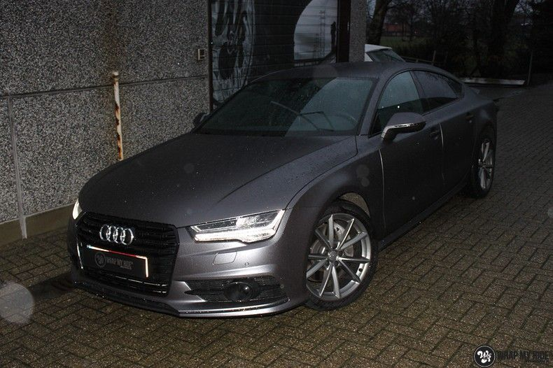 Audi A7 S-line Satin Dark Grey, Carwrapping door Wrapmyride.nu Foto-nr:10578, ©2018