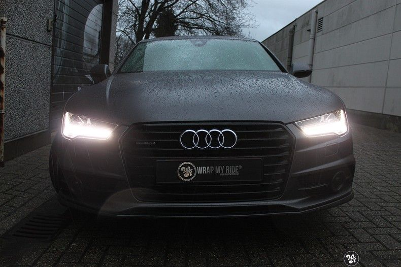 Audi A7 S-line Satin Dark Grey, Carwrapping door Wrapmyride.nu Foto-nr:10577, ©2018