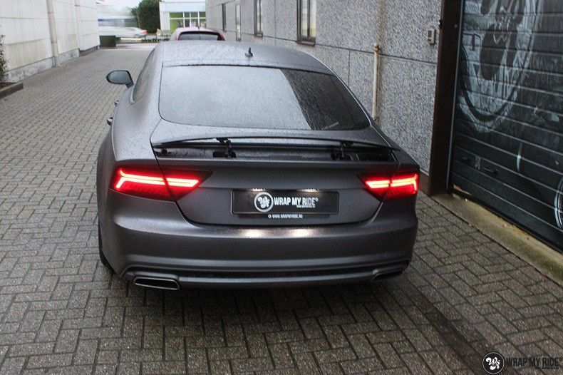Audi A7 S-line Satin Dark Grey, Carwrapping door Wrapmyride.nu Foto-nr:10571, ©2018