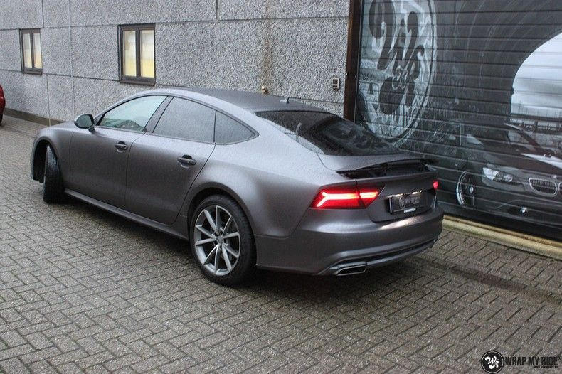Audi A7 S-line Satin Dark Grey, Carwrapping door Wrapmyride.nu Foto-nr:10569, ©2018