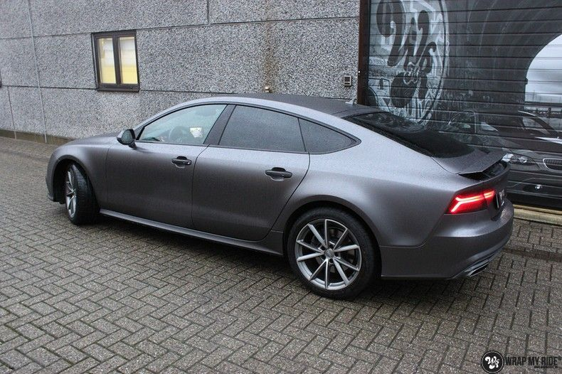 Audi A7 S-line Satin Dark Grey, Carwrapping door Wrapmyride.nu Foto-nr:10568, ©2018