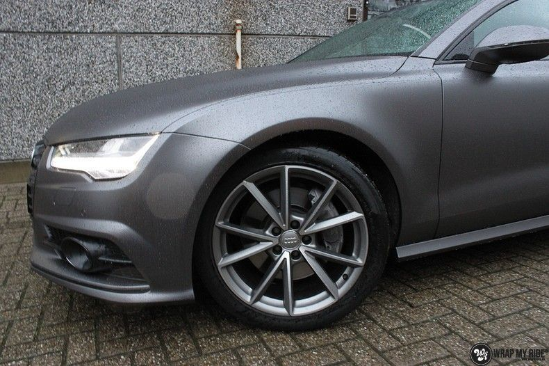 Audi A7 S-line Satin Dark Grey, Carwrapping door Wrapmyride.nu Foto-nr:10563, ©2018