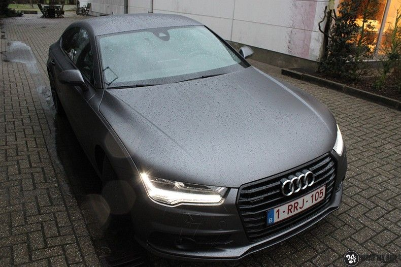 Audi A7 S-line Satin Dark Grey, Carwrapping door Wrapmyride.nu Foto-nr:10560, ©2018