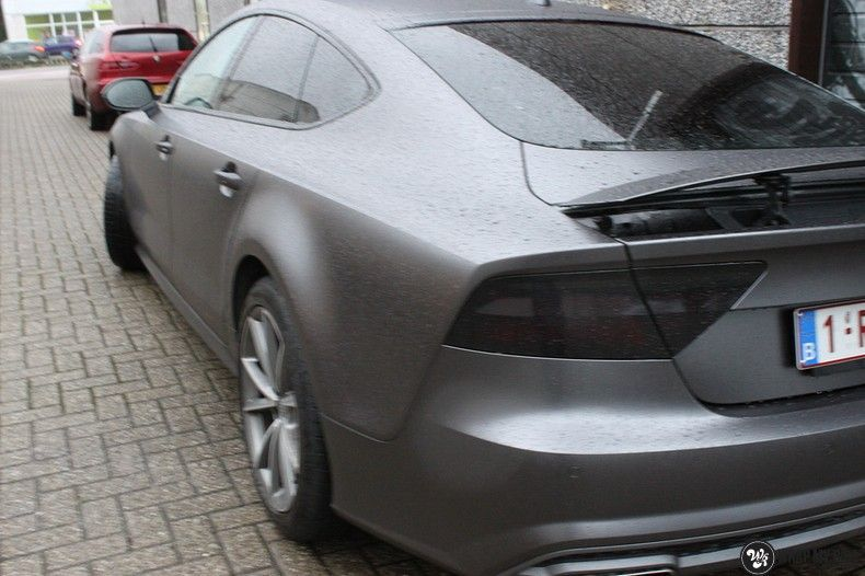 Audi A7 S-line Satin Dark Grey, Carwrapping door Wrapmyride.nu Foto-nr:10559, ©2018