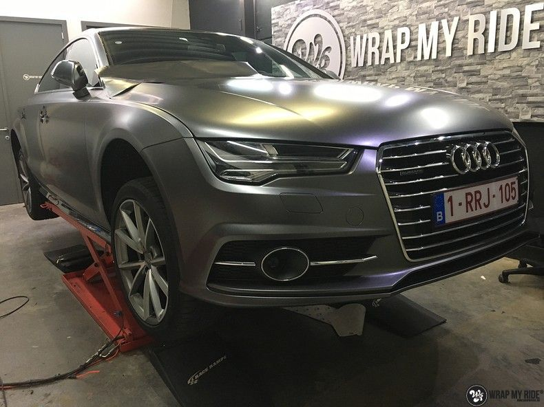 Audi A7 S-line Satin Dark Grey, Carwrapping door Wrapmyride.nu Foto-nr:10590, ©2018