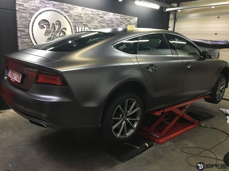 Audi A7 S-line Satin Dark Grey, Carwrapping door Wrapmyride.nu Foto-nr:10591, ©2018