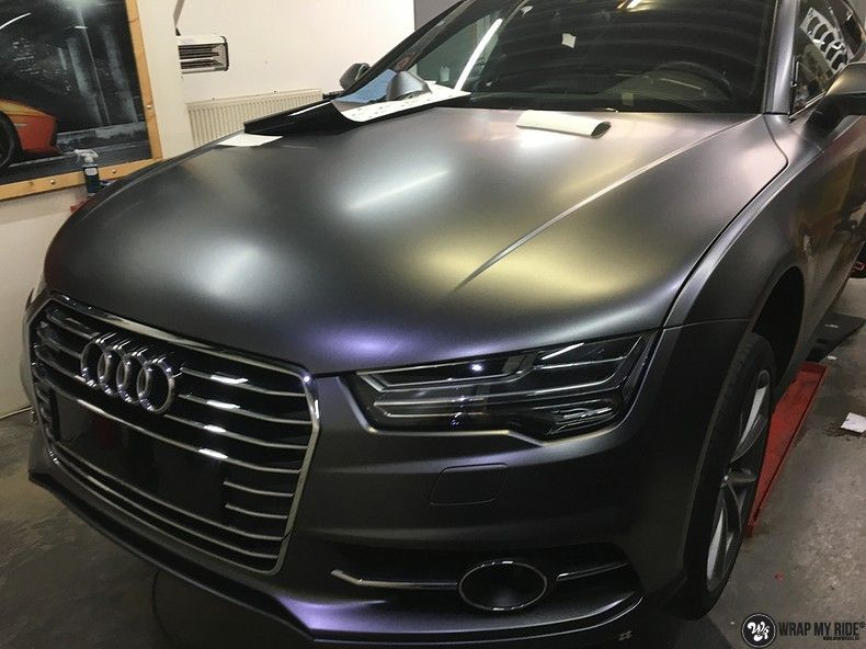 Audi A7 S-line Satin Dark Grey, Carwrapping door Wrapmyride.nu Foto-nr:10583, ©2018