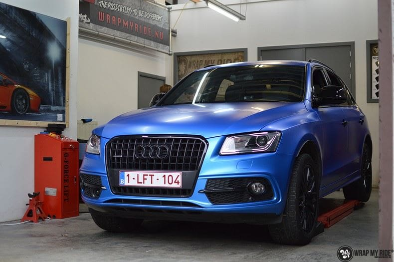 Audi Q5 Satin Perfect Bleu, Carwrapping door Wrapmyride.nu Foto-nr:9480, ©2017