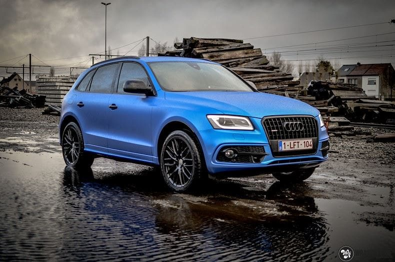 Audi Q5 Satin Perfect Bleu, Carwrapping door Wrapmyride.nu Foto-nr:9484, ©2017