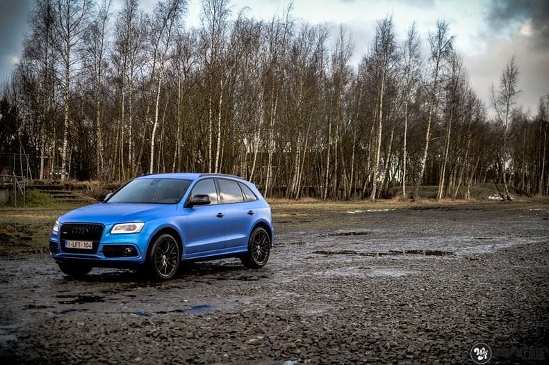 Audi Q5 Satin Perfect Bleu, Carwrapping door Wrapmyride.nu Foto-nr:9485, ©2017