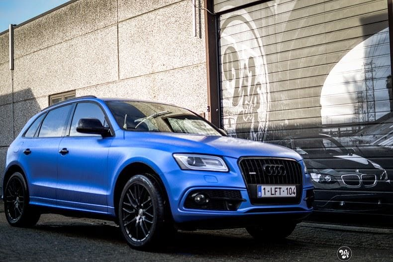 Audi Q5 Satin Perfect Bleu, Carwrapping door Wrapmyride.nu Foto-nr:9497, ©2017