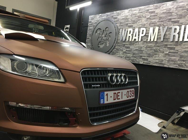 Audi Q7 Arlon Aztec Bronze, Carwrapping door Wrapmyride.nu Foto-nr:9406, ©2018