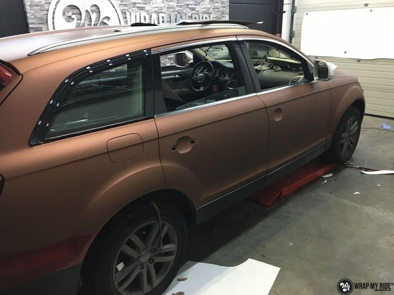 Audi Q7 Arlon Aztec Bronze, Carwrapping door Wrapmyride.nu Foto-nr:9400, ©2018