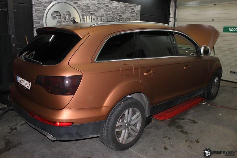 Audi Q7 Arlon Aztec Bronze, Carwrapping door Wrapmyride.nu Foto-nr:9396, ©2018