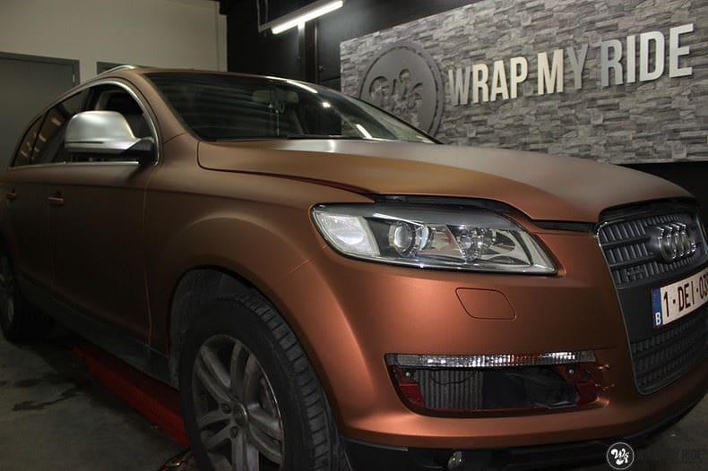 Audi Q7 Arlon Aztec Bronze, Carwrapping door Wrapmyride.nu Foto-nr:9394, ©2018