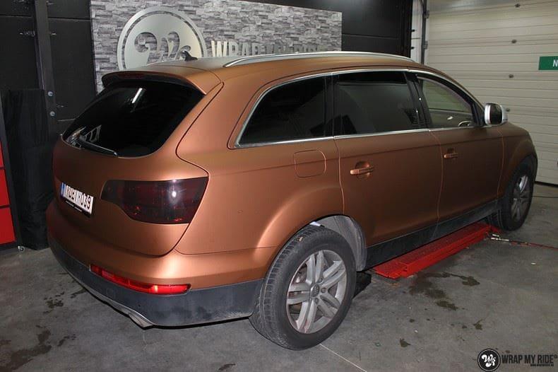 Audi Q7 Arlon Aztec Bronze, Carwrapping door Wrapmyride.nu Foto-nr:9386, ©2018