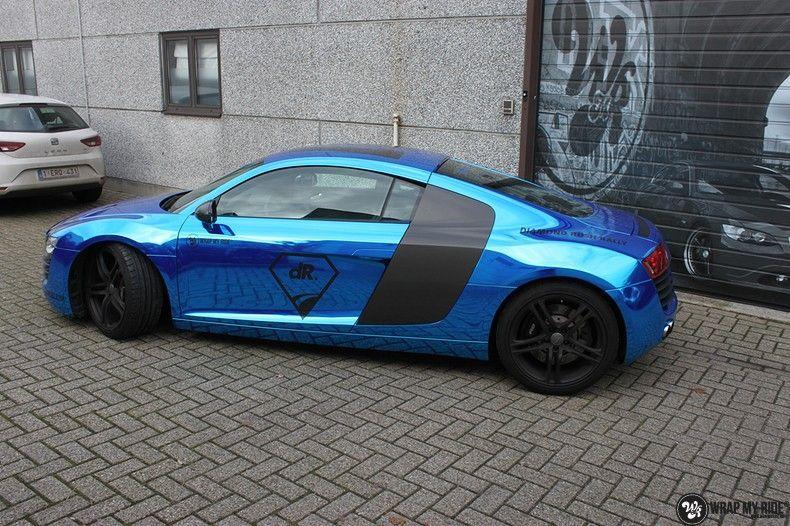 Audi R8 Bleu Chrome, Carwrapping door Wrapmyride.nu Foto-nr:10486, ©2017