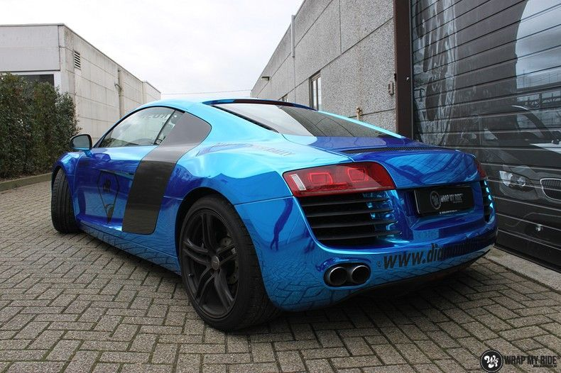 Audi R8 Bleu Chrome, Carwrapping door Wrapmyride.nu Foto-nr:10484, ©2017