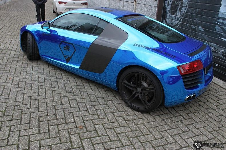 Audi R8 Bleu Chrome, Carwrapping door Wrapmyride.nu Foto-nr:10477, ©2017