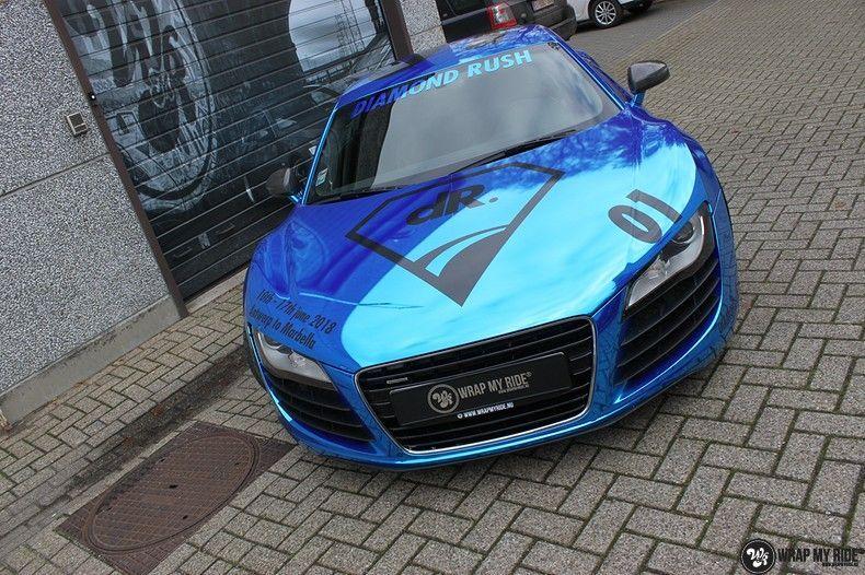 Audi R8 Bleu Chrome, Carwrapping door Wrapmyride.nu Foto-nr:10476, ©2017