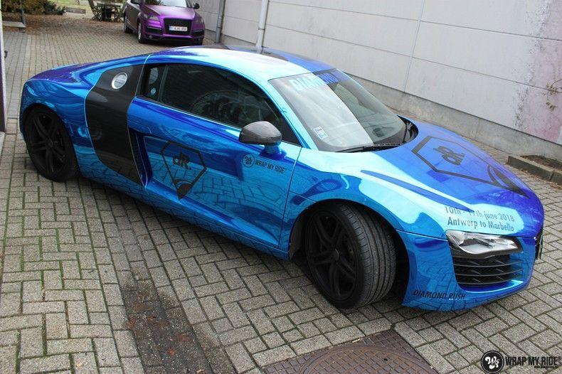 Audi R8 Bleu Chrome, Carwrapping door Wrapmyride.nu Foto-nr:10473, ©2017