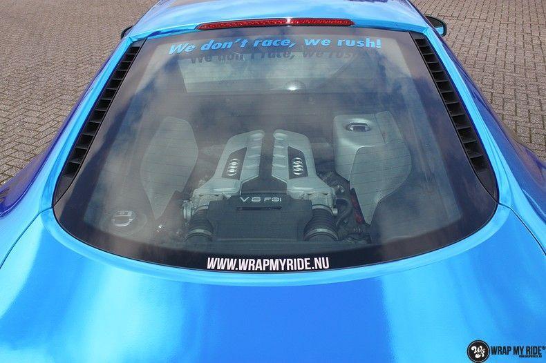 Audi R8 Bleu Chrome, Carwrapping door Wrapmyride.nu Foto-nr:10457, ©2017
