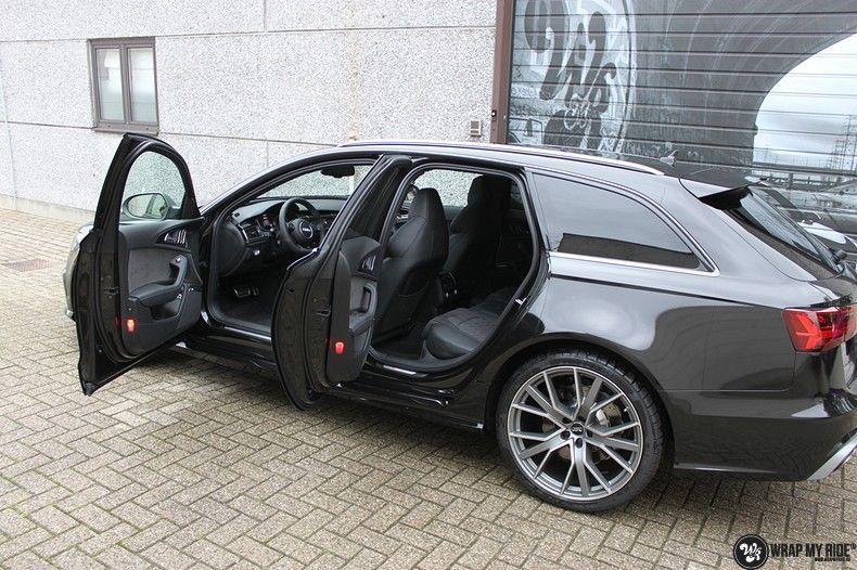 Audi RS6 glanzend metallic zwart, Carwrapping door Wrapmyride.nu Foto-nr:10441, ©2017