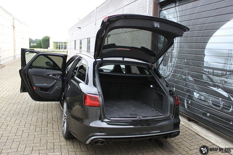 Audi RS6 glanzend metallic zwart, Carwrapping door Wrapmyride.nu Foto-nr:10438, ©2017