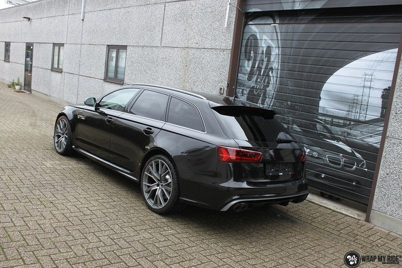 Audi RS6 glanzend metallic zwart, Carwrapping door Wrapmyride.nu Foto-nr:10428, ©2017