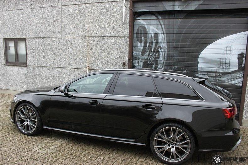 Audi RS6 glanzend metallic zwart, Carwrapping door Wrapmyride.nu Foto-nr:10426, ©2017
