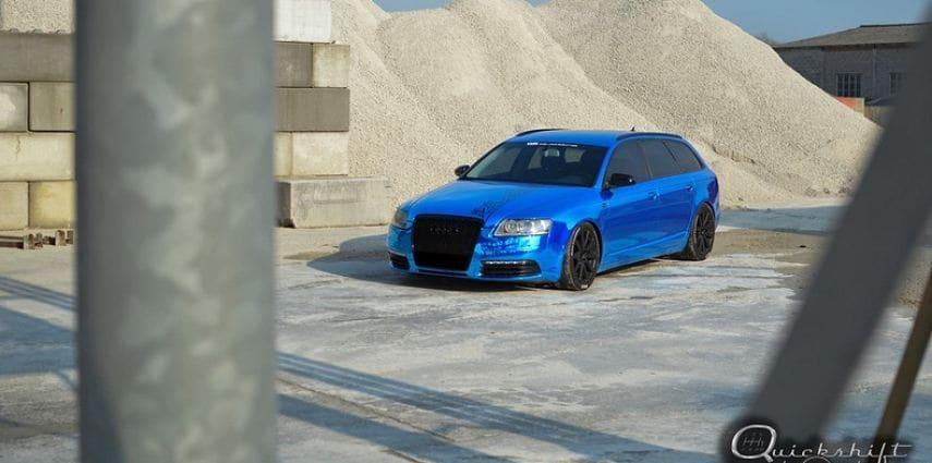 Audi A6 Bleu Chrome