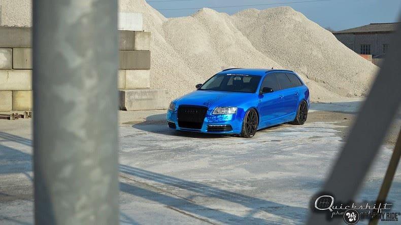 Audi A6 Bleu Chrome, Carwrapping door Wrapmyride.nu Foto-nr:9746, ©2017
