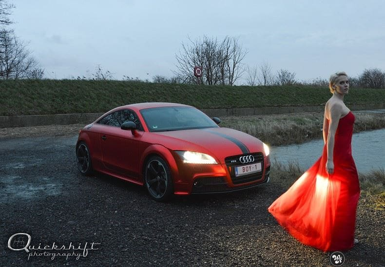 Audi TTS matte red chrome, Carwrapping door Wrapmyride.nu Foto-nr:8854, ©2017