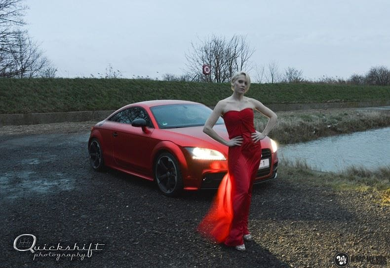 Audi TTS matte red chrome, Carwrapping door Wrapmyride.nu Foto-nr:8855, ©2017