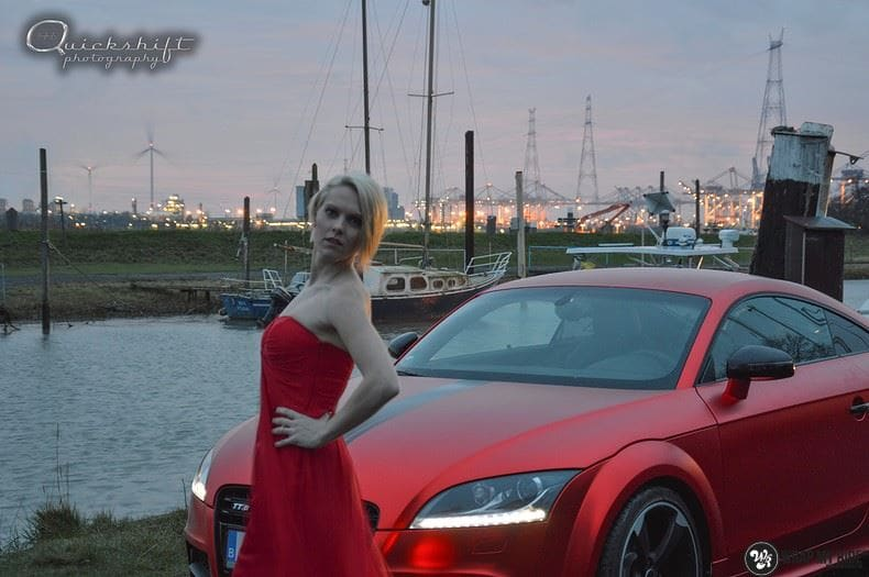 Audi TTS matte red chrome, Carwrapping door Wrapmyride.nu Foto-nr:8858, ©2017