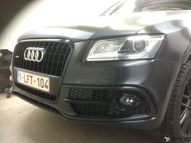 Audi Q5 Brushed black, Carwrapping door Wrapmyride.nu Foto-nr:8381, ©2017