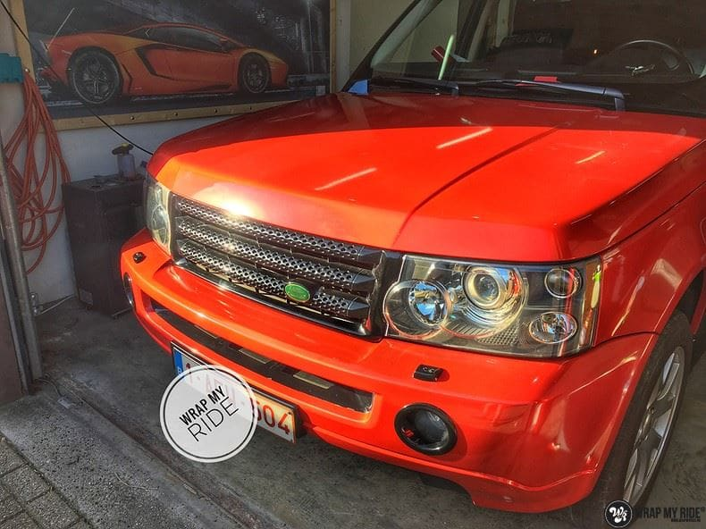 Range Rover Sport Dragon Fire Red, Carwrapping door Wrapmyride.nu Foto-nr:9851, ©2017