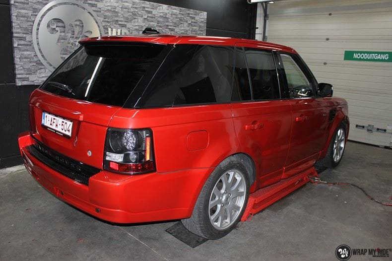 Range Rover Sport Dragon Fire Red, Carwrapping door Wrapmyride.nu Foto-nr:9850, ©2017