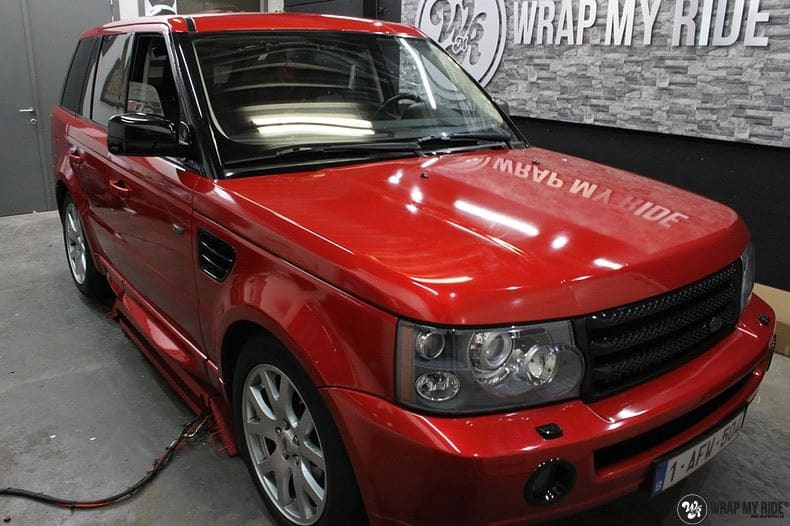 Range Rover Sport Dragon Fire Red, Carwrapping door Wrapmyride.nu Foto-nr:9848, ©2017