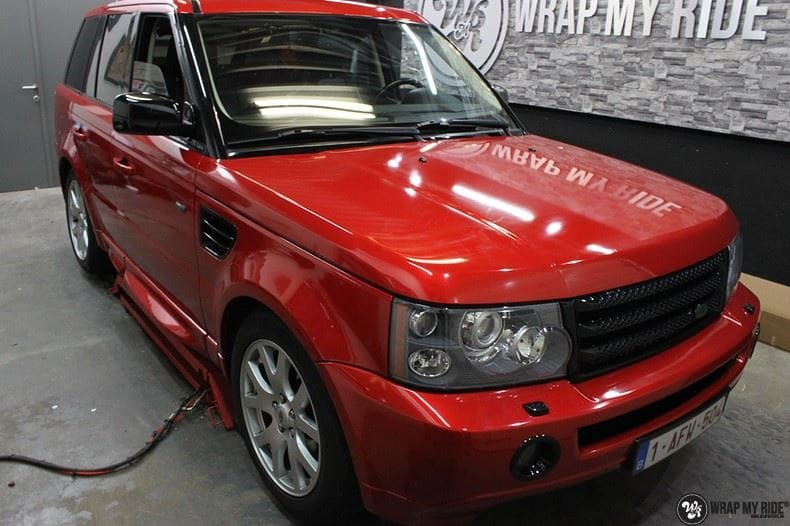 Range Rover Sport Dragon Fire Red, Carwrapping door Wrapmyride.nu Foto-nr:9847, ©2017