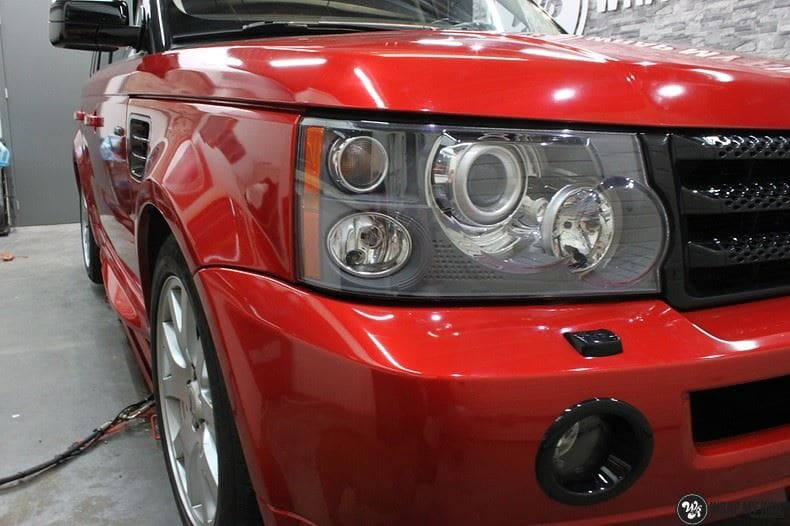 Range Rover Sport Dragon Fire Red, Carwrapping door Wrapmyride.nu Foto-nr:9846, ©2017