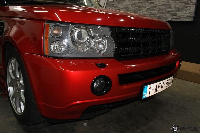 Range Rover Sport Dragon Fire Red, Carwrapping door Wrapmyride.nu Foto-nr:9845, ©2017