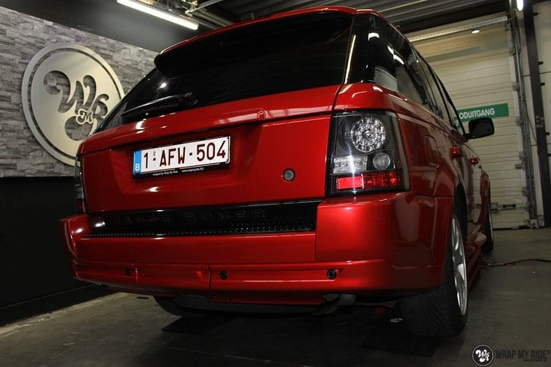 Range Rover Sport Dragon Fire Red, Carwrapping door Wrapmyride.nu Foto-nr:9842, ©2017
