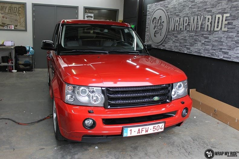 Range Rover Sport Dragon Fire Red, Carwrapping door Wrapmyride.nu Foto-nr:9838, ©2017