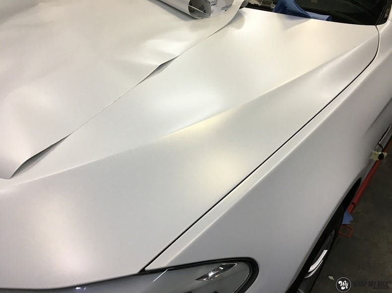 BMW F10 Satin frozen vanilla, Carwrapping door Wrapmyride.nu Foto-nr:9471, ©2017
