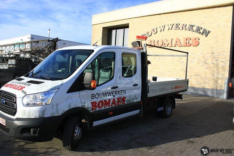 Ford Transit bedrijfswagens voor Bomaes, Carwrapping door Wrapmyride.nu Foto-nr:8675, ©2017