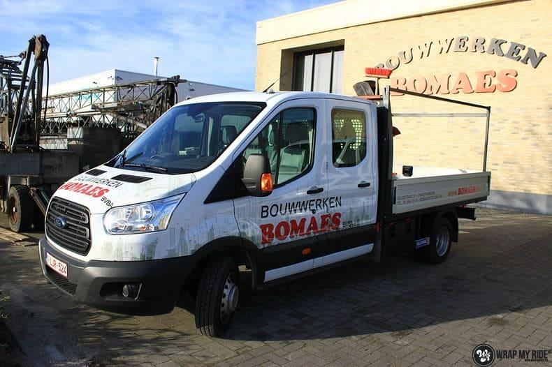 Ford Transit bedrijfswagens voor Bomaes, Carwrapping door Wrapmyride.nu Foto-nr:8674, ©2017